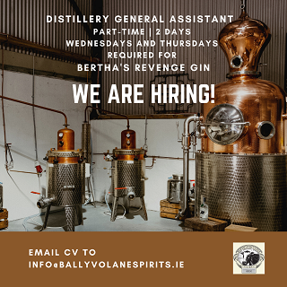 Distillery Assistant Required Bertha's Revenge Gin