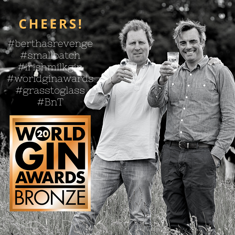 Bertha's Revenge Gin wins Bronze at World Gin Awards 2020
