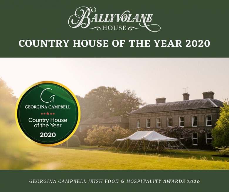 Georgina Campbell 'Country House of the Year 2020' for Ballyvolane House