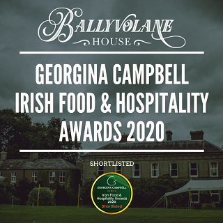 Georgina Campbell Irish Food & Hospitality Awards 2020 - Ballyvolane House shortlisted